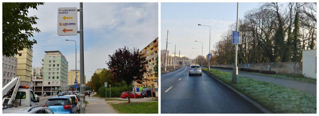 Pronájem reklamních ploch: Nosič Flex (vlevo)/ Nosič Horizont (vpravo)