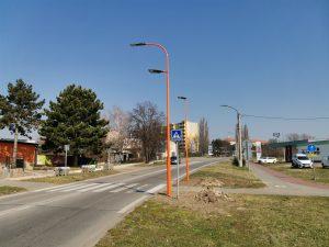 Oranžový přechod ve městě Hodonín