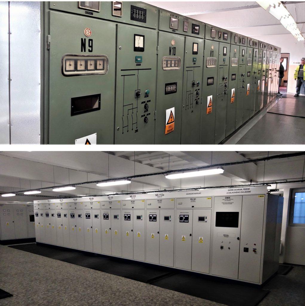 Technologické zařízení trakční měnírny před/po rekonstrukci
