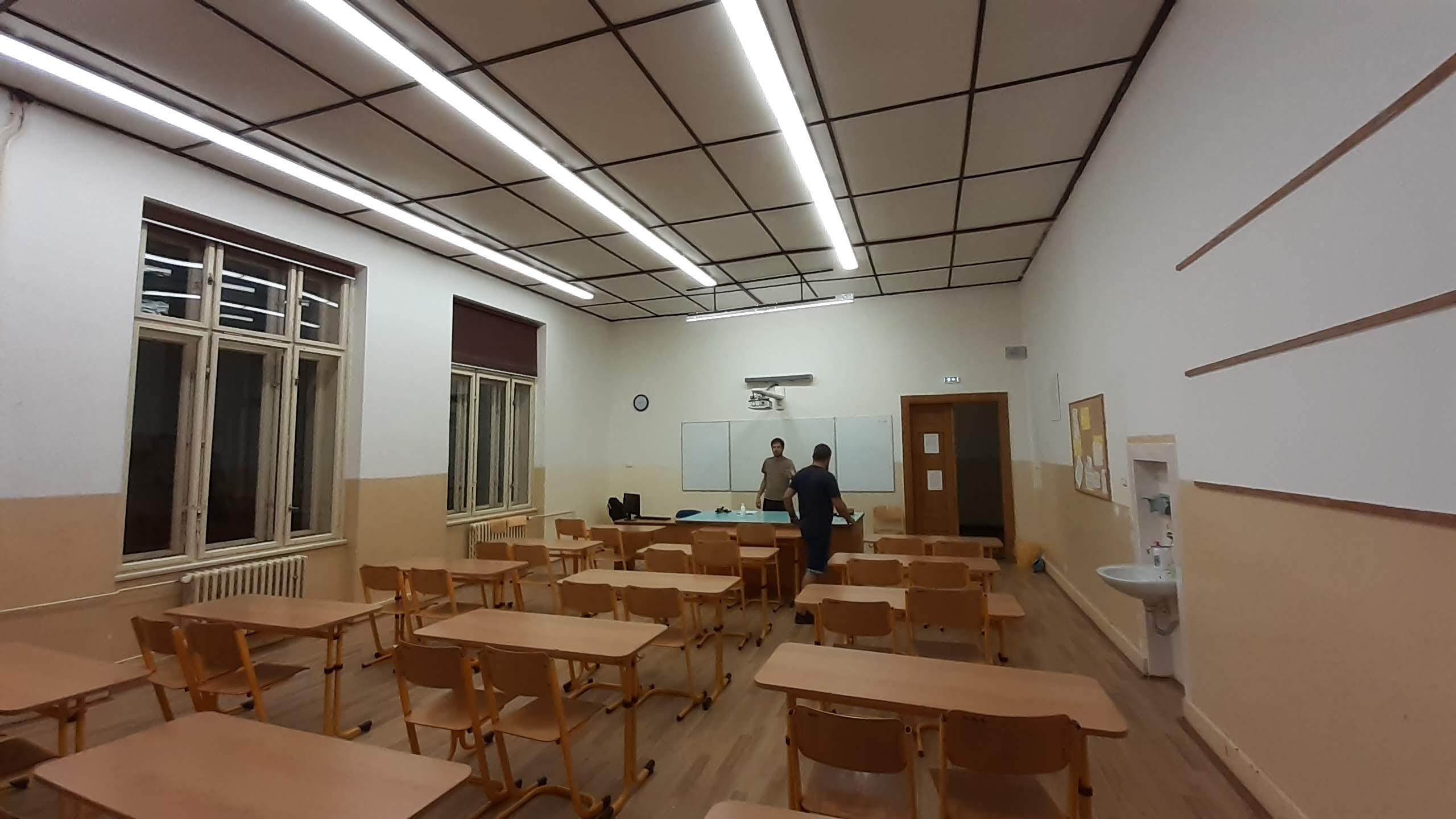 Nové osvětlení učebny
