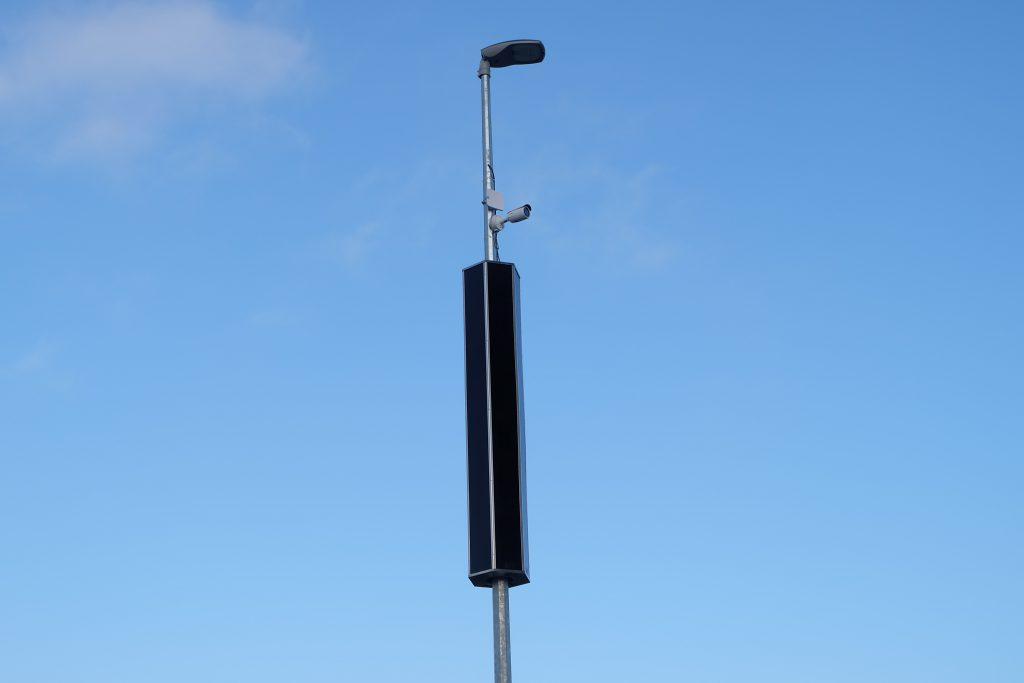Varianta solární lampy s kamerovým systémem