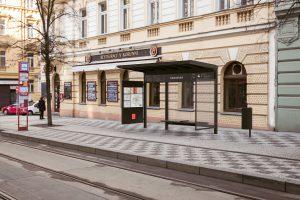 Vizualizace nového zastávkového přístřešku ( zastávka Šumavská)